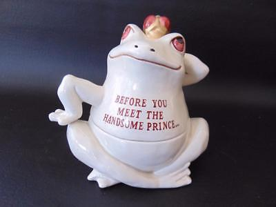 Fitz and Floyd Frog Prince Trinket Box Kiss Toads 1980