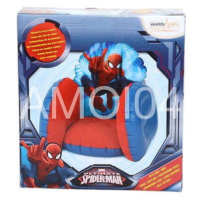 Marvel Spiderman Inflatable Kids Boys Chair Extra Comfortable Sofa New