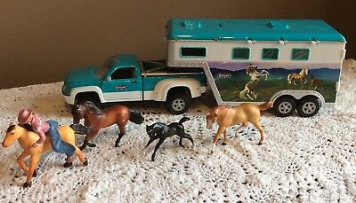 Breyer Horse Truck, Trailer, Horses and Rider