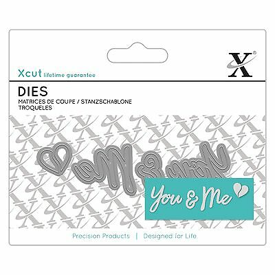 YOU & ME - Xcut / Docrafts Mini Sentiment Die - free p&p on any extra dies