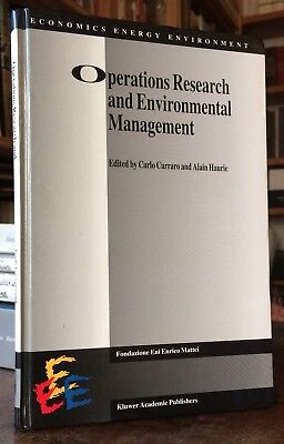 Carraro Haurie Operations Research and Environmental  Management Kluwer 1996