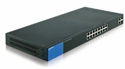 Linksys LGS318 Business 16 Port Gigabit Smart Managed Network Switch SFP Ports