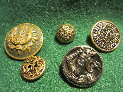 5 Different Buttons Cowboy, Viking Coats of Arms
