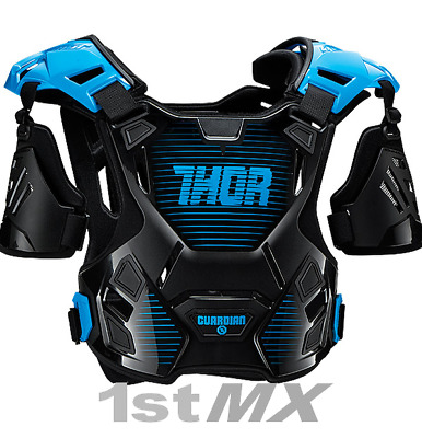 Thor Guardian Motocross Off Road Chest Protector Armour Blue Black Kids XXS XS