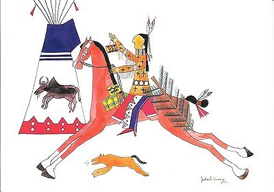 12 Native American Holiday Cards by Michael Horse (Bringing Home the Tree)