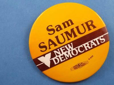 Sam Saumur Ndp Party London Canada Election Campaign Collector Button