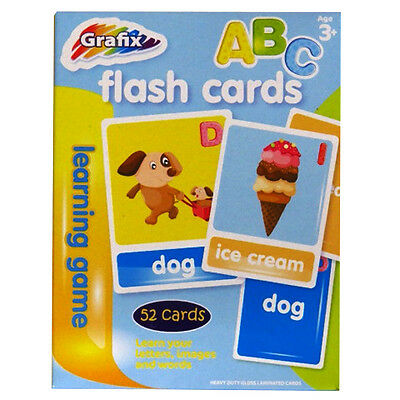 Learning Flashcards, Alphabet Learning, Letters, Words, Colours - by Grafix