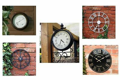 Kingfisher Garden Clocks for Outdoor or Indoor use Thermometer Humidity