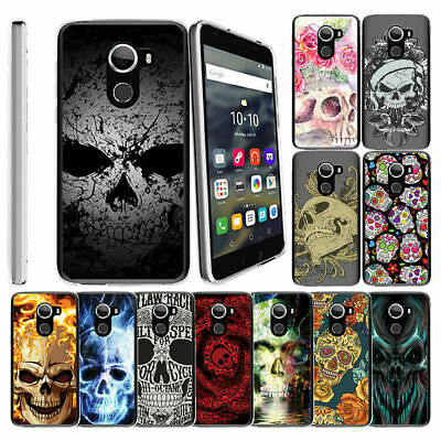 For Alcatel REVVL (T-Mobile) | Alcatel A30 Fierce Case Clear TPU Cover Skulls