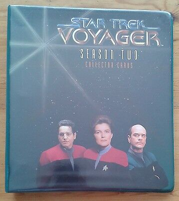 Star Trek Voyager Season Two 2 Collector trading Cards binder & base set & more