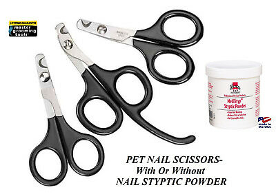 Master Grooming Tool Pet Angled NAIL SCISSOR Claw Trimmer Clipper&STYPTIC POWDER