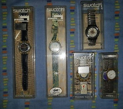 Lotto 6 Swatch vintage anni 90 Paulo Mendonça by Melody Musicall Atlanta 1996