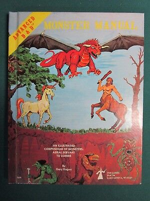 Advanced Dungeons And Dragons Monster Manual AD&D Gygax 1977, 1978 VG+