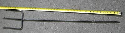 Vintage Iron Barbed Fishing Spear 3 Prong Primitive