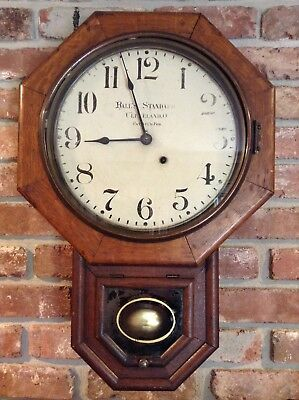 Ball's Watch Co./Seth Thomas Standard short drop Regulator Clock Rare Antique