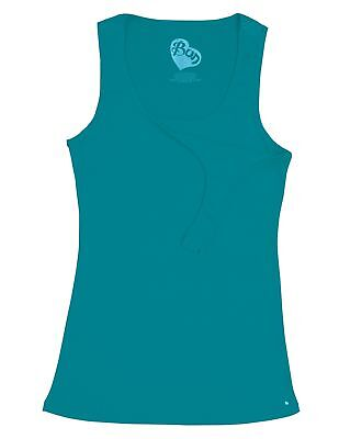 Bun Maternity Nursing Tank Top Peacock Teal, Grey, Navy, Breastfeed in a Snap