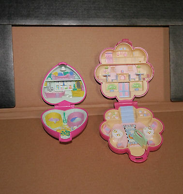 2 Bluebird Polly Pocket compacts - 1990s