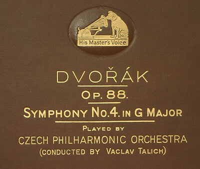 CZECH PHILHARM.ORCH. & TALICH  Dvorak: Symphony No. 4 G Major Op. 88 78rpm  A259