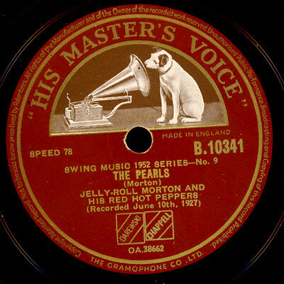 JELLY ROLL MORTON'S RED HOT PEPPERS The Pearls / Beale Street Blues 78rpm  X3072