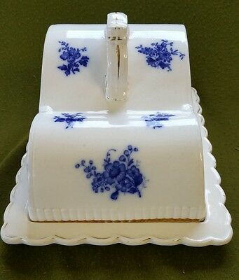 19th Century Blue and White Cheese Dish and Cover