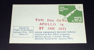 Apollo 14, Exeter emergency delivery service.