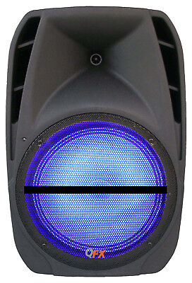 "QFX 12"" Portable Bluetooth Rechargeable Party PA DJ Speaker USB MP3 Player Light"