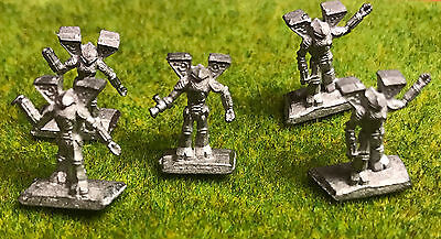 BATTLETECH Ral Partha Miniature - Metal Mech Robot 5 HUMAN BATTLE ARMORS
