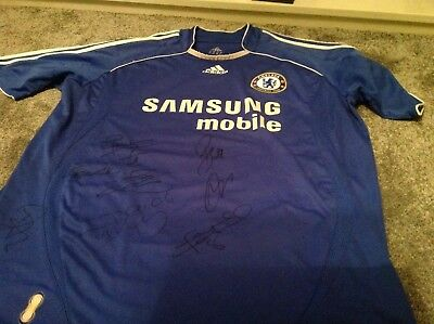 Chelsea Signed Shirt By 9 Lampard & Others