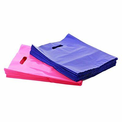 PINK & PURPLE Plastic Merchandise Shopping Bags Handle Retail  Bags in 3 Sizes