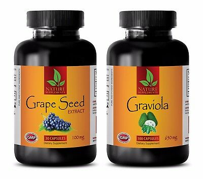 Metabolism and Energy vitamins - GRAVIOLA – GRAPE SEED EXTRACT COMBO 2B - grape