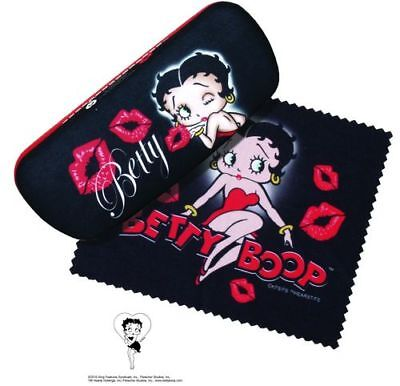 Betty Boop Kisses Eyeglass Reading Glasses Hard Case w/ Matching Lens Cloth New