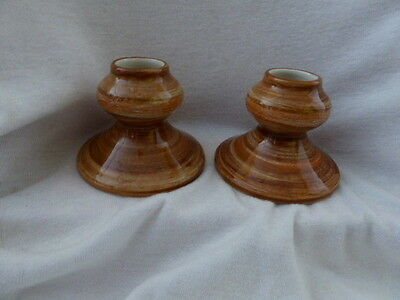 Jersey Pottery Channel Islands  Pair of Candle holders
