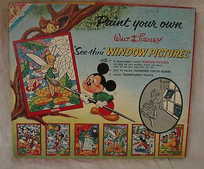 1958 Disney Mickey Mouse Paint by Number Window Pictures, 5 of 6, Transogram