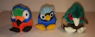 Lot of 3 PUFFKINS Stuffed Animals by Swibco new with tags