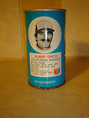 MLB Bobby Grich Angels Baseball Stats RC Cola Empty Straight Steel Soda Pop Can