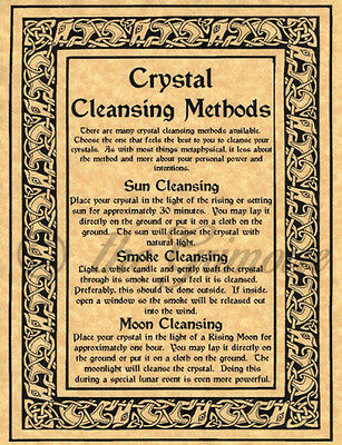Crystal Cleansing, Book of Shadows Spell Pages, BOS Pages, Witchcraft, Wicca