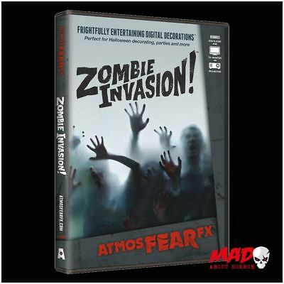 ATMOSFX Zombie Invasion DVD - AtmosFEAR fx Digital Halloween Decorations SCARY !