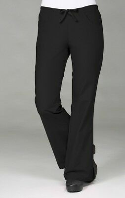 Core by Maevn Women's Flare Leg Scrub Pants Black Large