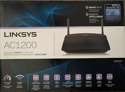 Linksys AC1200 Dual Band Smart Wireless Router (EA6100-CA) FREE SHIPPING CANADA!