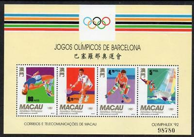 MACAO MNH 1992 SG MS783 Olympic Games - Barcelona, Spain