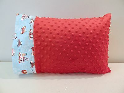 NWT Firetruck Red Minky Dot Toddler Pillowcase 12x16 Boy Nap Bed Truck Ambulance