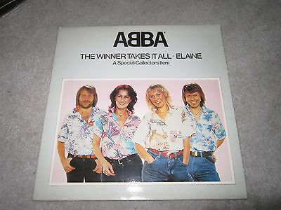 """12"""" vinyl single, Abba ,the winner takes it all/Elaine,special collectors pop up"""