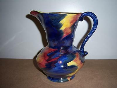 RARE MALING STORM PATTERN JUG WITH MULTI-COLOURED LUSTRE GLAZE c.1930's