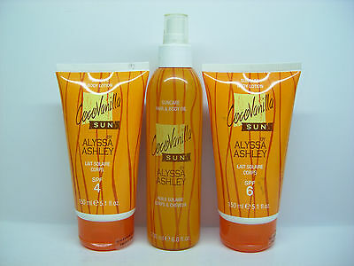 COCCOVANILLA SUN PAR ALYSSA ASHLEY - LAIT SPF4 + BODY OIL 200 ml + LAIT SPF 6