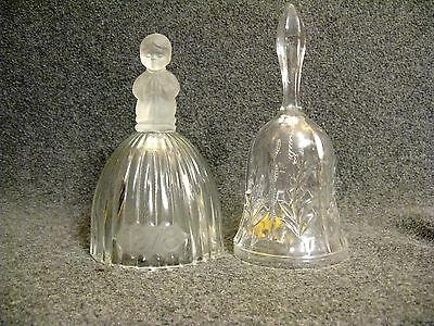 Lot of 2 (hand cut) Crystal Lead Bells West Germany