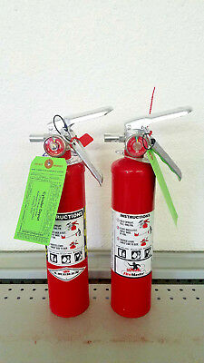 2.5lb Fire Extinguisher ABC Dry Chemical - Amerex - Rechargeable New Tag - Pair