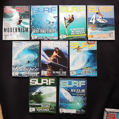 Transworld Surf Magazine 2005 Used Lot Of 9 Issues Vol.7  Surfer Surfing