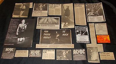 Ac/dc - Collection Of Classic Magazine Memorabillia / Concert Adverts