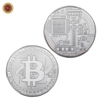 WR Bitcoin Physical SILVER Coin Commemorative BTC Coin Medal Gifts for Him