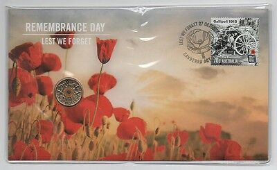 2015 Pnc: Remembrance Day 2015 W/ Orange Color $2 Coin Limited Edition Of 11000
